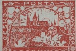 Poštovní známka československa emise hradčany